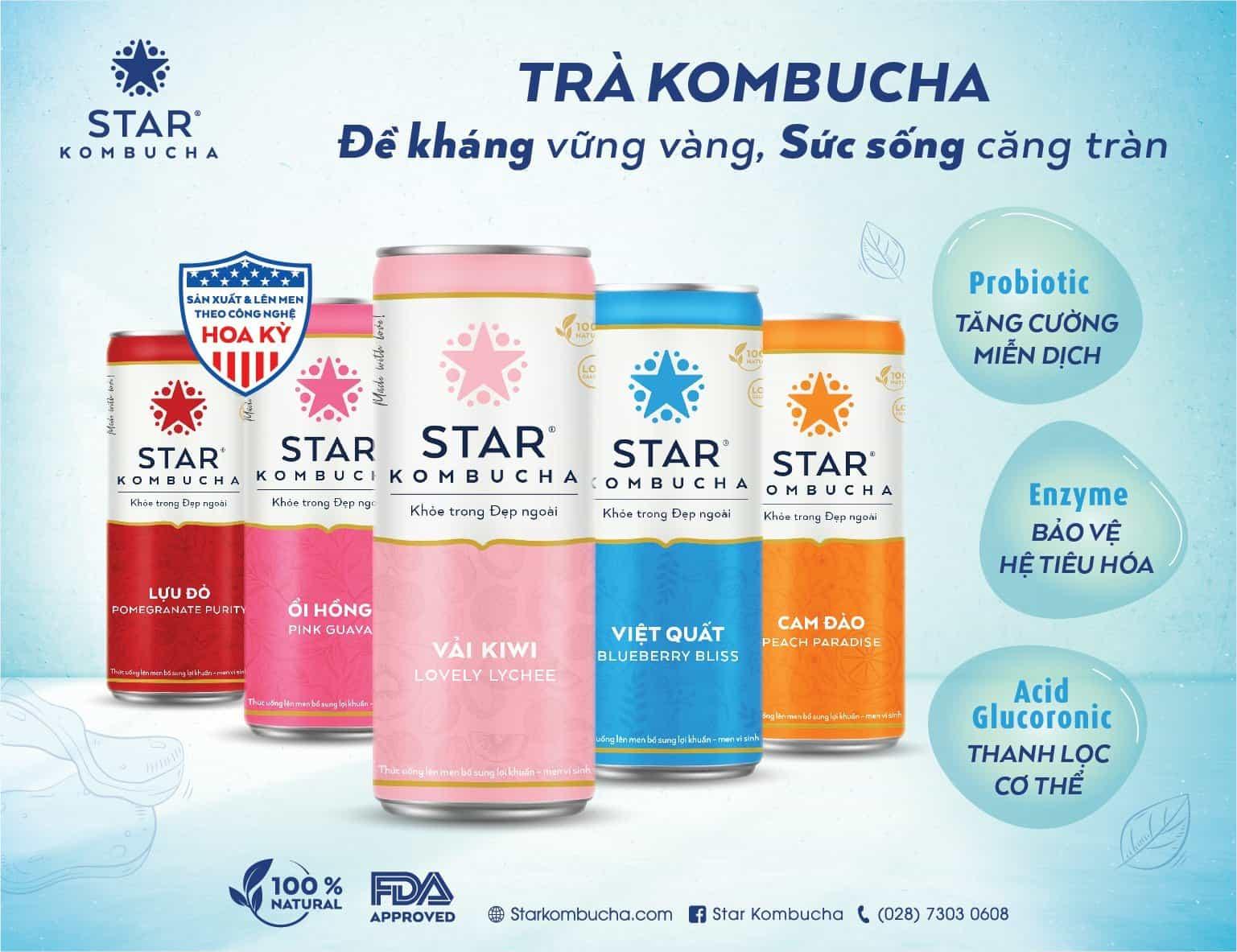 Star Kombucha thức uống giúp phục hồi sức khỏe