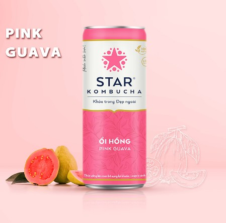 Star Kombucha ổi hồng